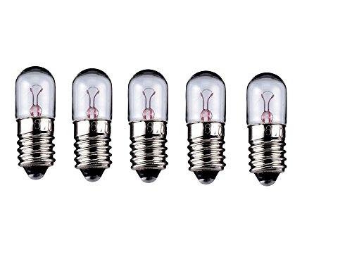 5er Set WireThinX Röhrenlampe 2 W, 6 V - Sockel E10