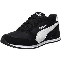 Puma Unisex-Erwachsene St Runner V2 NL Sneaker, Schwarz Black White 1, 43 EU (9 UK)