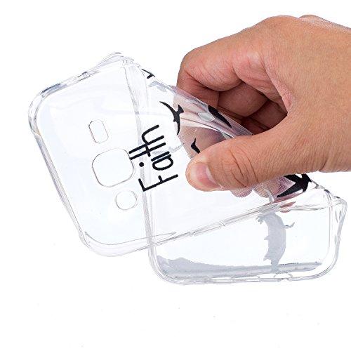 Toyym Custodia invisibile protettiva per Samsung Galaxy A3(2016) A310, ultra sottile, trasparente, in silicone flessibile, con motivo stampato, con tappo antipolvere a forma di fiore e 1pennino, plas Dont touch my phone#1