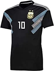 2018 World cup Argentina National Team Black Soccer Jersey XL