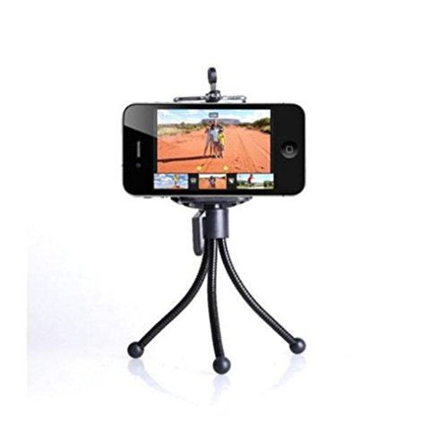 Teléfono mini trípode teléfono con cámara de video de escritorio soporte portátil , small hose + mobile phone clip (Telefono Camara)