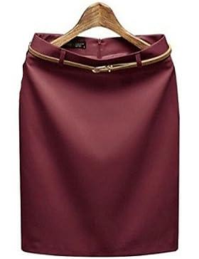 De las mujeres Faldas - Sobre la rodilla Casual / Para Trabajo Rígido - Poliéster , m