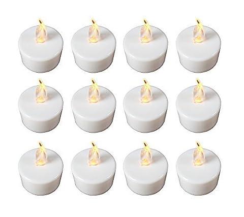 Babz Lot de 12bougies chauffe-plat LED à lumière vacillante piles incluses.