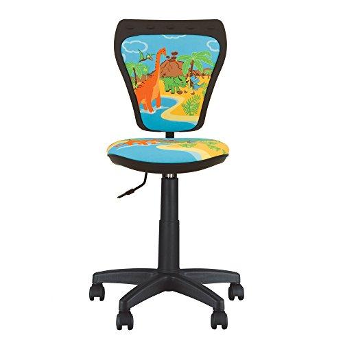 MINISTYLE- Kinder- und Jugenddrehstuhl, Schreibtischstuhl für Kinder, Bezugsstoff . (Dino)