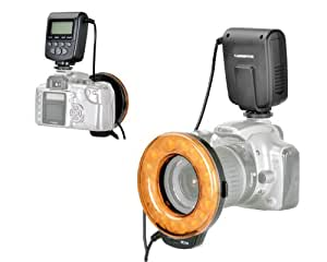 Mcoplus - Macro Ring Flash FC110 LED with LCD screen for Canon and Nikon (Support continuous light and flash)
