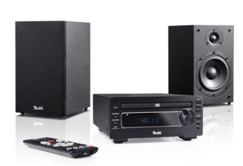 Teufel Kombo 22 Mikro-Set, 50 W, schwarz - Home-Audiosystem (Home-Mikrofonsystem, 50 W, 2-Wege, FM, MP3,WMA) - Dvd-stereo-anlage