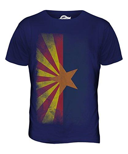 CandyMix Bundesstaat Arizona Verblichen Flagge Herren T Shirt Navy Blau