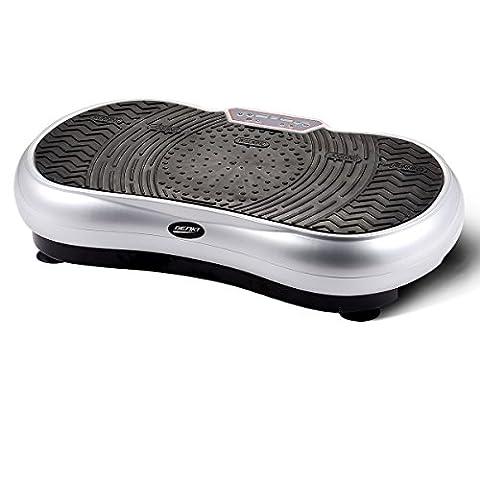 GENKI Slim Body Shape Vibration Power Plate Oscillating Platform Fitness Machine Sliver