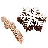FeiliandaJJ 10Pcs Weihnachten Deko Anhänger 100% Holz DIY Hängende Verzierung für Babyzimmer Weihnachtsbaum Party Tür Wand Haus Deko Accessoires (F)