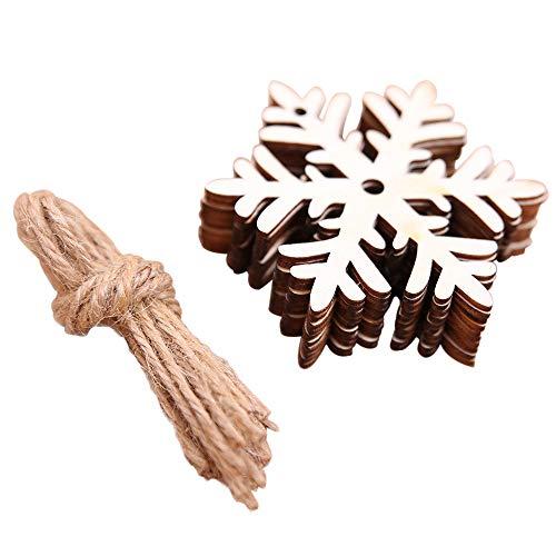 LoveLeiter 10 Stück DIY Holz Anhänger Ornamente für Weihnachtsbaum und Party Dekorationen...