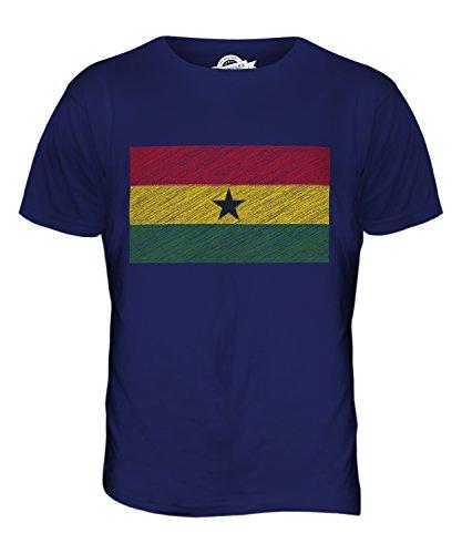 CandyMix Ghana Kritzelte Flagge Herren T Shirt Navy Blau
