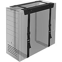 1home Debajo Escritorio Torres PC CPU Soporte con Correas Caja de Ordenador de Sobremesa Oficina Casa