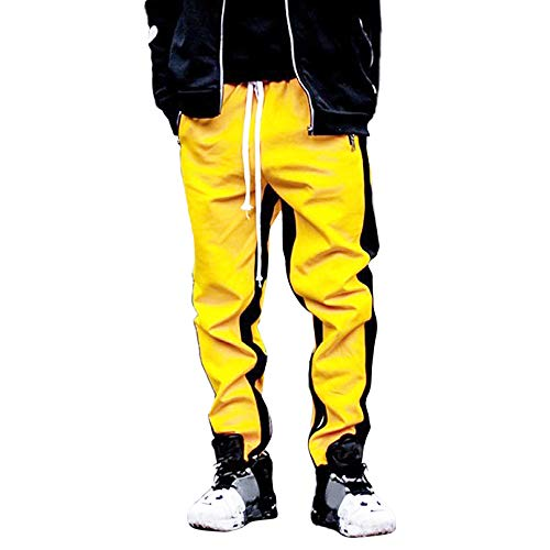 Pantaloni Lungo TrendUomo Slim Fit BasicPantaloni di Tuta da UomoPantaloni Sportivi da UomoYanHoo Tuta da Uomo Righe Tuta Casual da Lavoro Sportivo
