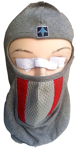 DHOOM 3 FULL FACE MASK WHITE, Red Grey LINER BIKE RIDERS Mask Wit WOVEN LINER, HEAD GEAR, UNDER HELMET  available at amazon for Rs.205