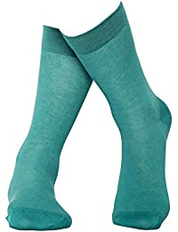 Türkise Socken aus hochwertiger, langstapliger Bio-Baumwolle - GOTS zertifiziert - Atlantis