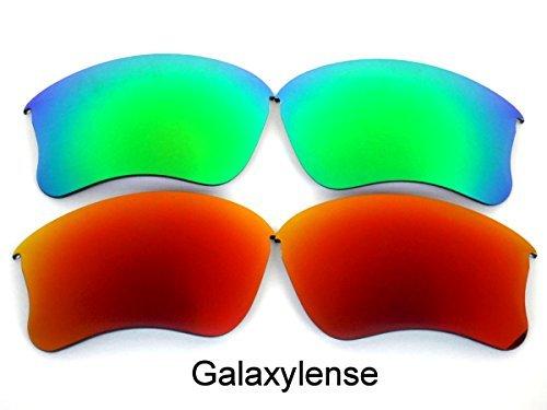 Galaxylense Ersatzgläser für Oakley Flak Jacket XLJ rot & grün Farbe Polarisierend 2 Paar,GRATIS S & H - rot & grün