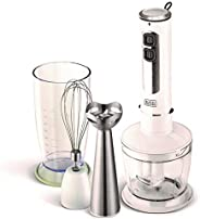 Black+Decker 400W 4 in 1 Blender with Chopper and Whisk, B4000-B5, White, 2 Year Brand Warranty