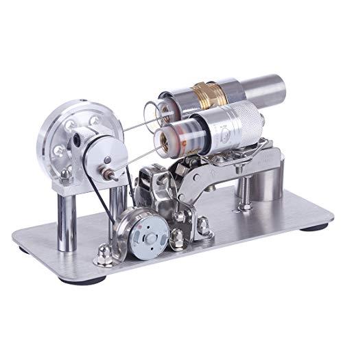 TopBau Stirlingmotor Bausatz Einzylinder Stirlingmotor Modell Stirling Generator Engine Kit DIY Physik Spielzeug für Kinder und Erwachsene