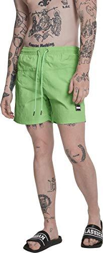 Urban Classics Herren Badehose Block Swim Shorts neongreen M Neon-grüne Hose
