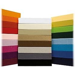 Sábana Ajustable Jersey Timeless - todos los tamaños y colores - 100% algodón - 140 a 160 x 200 cm - antracita / gris oscuro