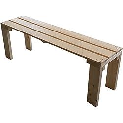 Banco de madera para jardín exterior interior 150x38.5x50H natural disponible tanbien a medida!