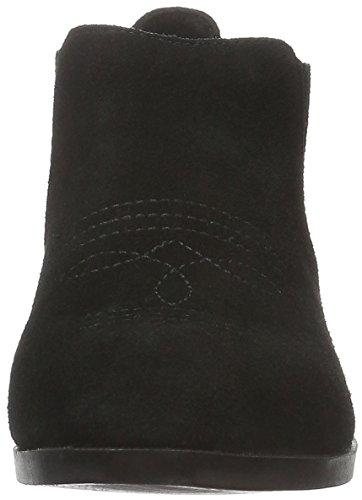 Vero Moda Vmwestern Leather Low Boot, Bottes Classiques femme Noir - Noir