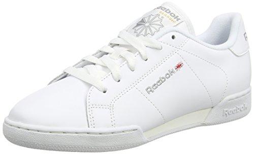 reebok-npc-ii-ne-baskets-basses-femme-blanc-white-flat-grey-40-eu