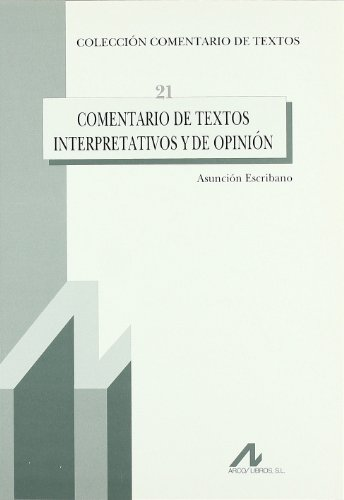 Comentarios de textos interpretativos y de opinion