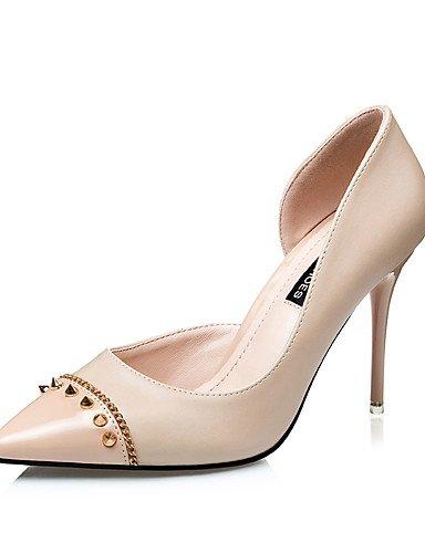 WSS 2016 Chaussures Femme-Mariage / Soirée & Evénement / Habillé-Noir / Rouge / Gris / Amande-Talon Aiguille-Talons / Bout Pointu-Talons-Similicuir almond-us6 / eu36 / uk4 / cn36