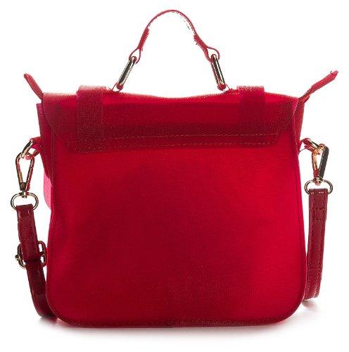 Big Handbag Shop mini donna cartella Glitter opaco Rosa (Rosa baby)