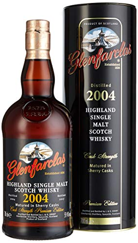 Glenfarclas Highland Single Malt Scotch Whisky Cask Strength Premium Edition 2004 (1 x 0.7 l)