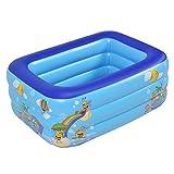 Hangarone Aufblasbarer Baby-Pool-Hin- Und Herbewegungs-Swimmingpool -1.33M Drei-Ring Druck-PVC, Das...