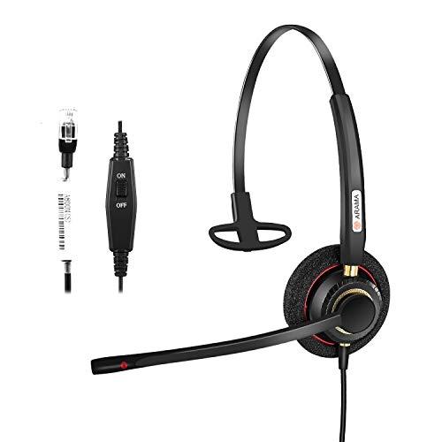 Arama A800S Telefon-Headset mit Geräuschunterdrückung für Festnetz-Tischtelefone  Avaya Aastra Allworx Adtran Alcatel 078e7bbb62