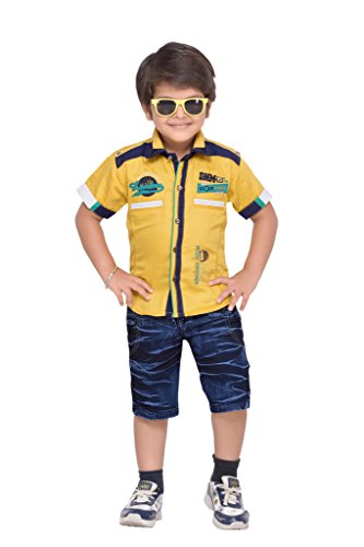 AJ Dezines Kids Party Wear Shirt and Shorts Clothing Set for Boys...
