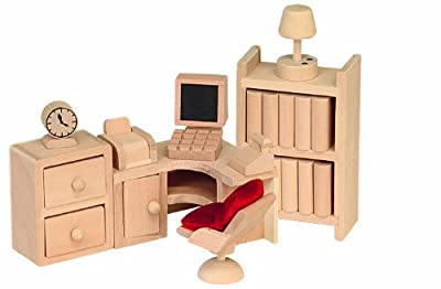 Beluga 70122 - Muebles de madera para sala de ordenadores de casa de muñecas por Beluga