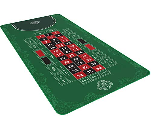 Bullets Playing Cards Roulette Matte in 180 x 90 cm - Tischunterlage für echtes Casino-Feeling