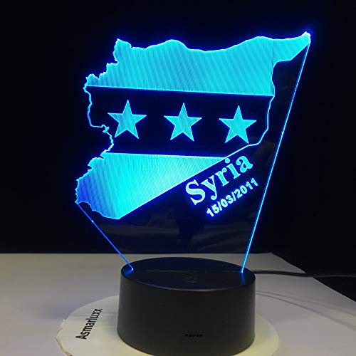 Illusion Lampe / 7 Farbe Kreative Schreibtischlampe/kinder Weihnachtsgeschenk/geschenk/dekoration/Syrien Karte ()