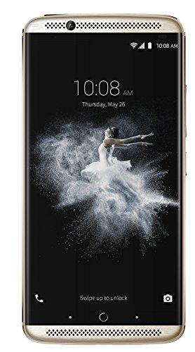 "ZTE AXON 7 (64GB) - Smartphone libre Android 6.0 (4G Lte, Pantalla 5.5"" AMOLED, Resolución 2K WQHD, Cámara 20Mp OIS, Snapdragon 820 Quad Core, 4GB RAM, Altavoz Dual, HiFi, Carga rápida 3.0, Cristal corning gorilla 4, Lector de huellas dactilares), Dorado"