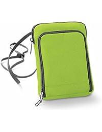 Bag base - pochette tour de cou papiers passeport voyage BG47 - vert citron