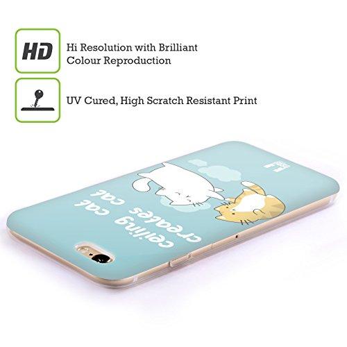 Head Case Designs Que D'autre Chat Chat De Plafond Contre Chat De Sous-Sol Étui Coque en Gel molle pour Apple iPhone 5c Création Du Chat