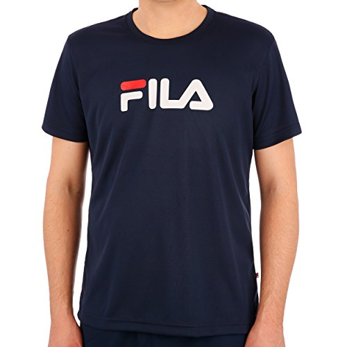 Fila Herren T-Shirt Logo, Blau, S