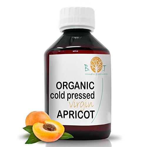 biOty garden Aprikosenkernöl kalt gepresst BIO Organische Massageöl Haaröl Gesichtsöl bartöl (100 ml)
