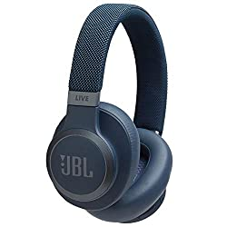 JBL Live 650BTNC kabellose Over-Ear Kopfhörer - Bluetooth Ohrhörer mit Noise Cancelling, langer Akkulaufzeit und Alexa-Integration - Unterwegs Musik hören und telefonieren Weiß