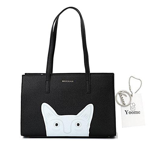 Yoome Cute Cartoon Cross Pattern Top Handle Handtaschen Für Frauen Geldbörse Taschen Für Teen Girls Tote - (Kostüme Party Jugendliche Für Stadt)