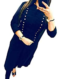 Fkart Festival Mega Sale Offer Cotton Blue Stitched Stylish Selfi Kurti