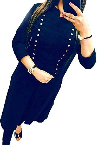 Fkart Festival Mega Sale Offer Cotton Blue Stitched Stylish Selfi Kurti