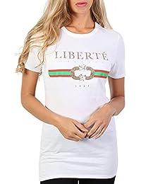 PILOT® Women's Liberte Print Slogan T-Shirt in White