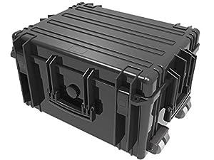 Grand Valise trolley imperméable CASE Noir Boîte en plastique PHOTO FILM CAMPING outdfoor bateau survie imperméable étanche à la poussière stossfest 634x485x342 mm Modèle: wpc06