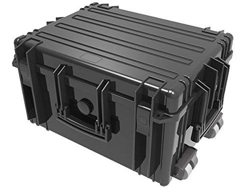 Großer Trolley Transport Koffer Waterproof Case 63,4 x 48,5 x 34,2 cm Black Kunststoff-Box Foto Film Camping Outdoor Boot Survival wetterfest staubdicht stossfest Modell: WPC06