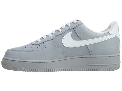 Nike Mens Air Force 1 07 Leather Trainers Gris